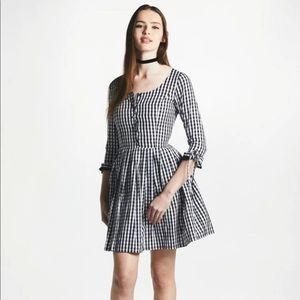 NWT L'ecole des femmes lecole gingham dress L